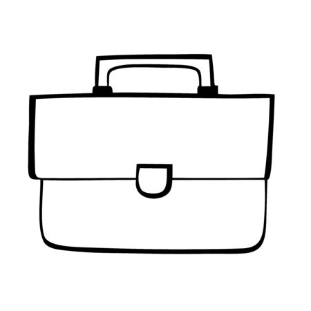 Black and white buisness bag vector icon