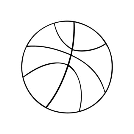 Black and white vector of a basketball Stock Illustratie
