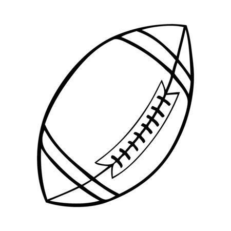 Black and white american football vector illustration Çizim