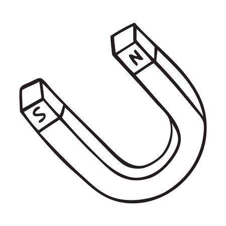 Black and white magnet illustration