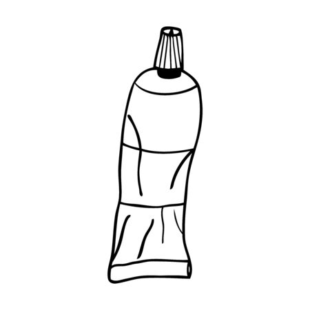 Black and white vector illustration of tubes of glue 向量圖像