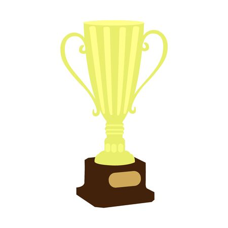 Trophy Cup Flat Icon with Long Shadow