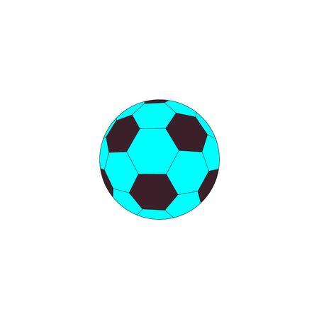 Black and blue soccer ball Stock Illustratie