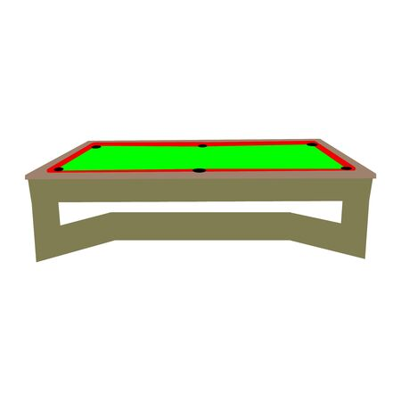 An isolated billiard table on a white background Illusztráció