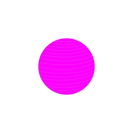 A violet vector icon of a circle on white Иллюстрация