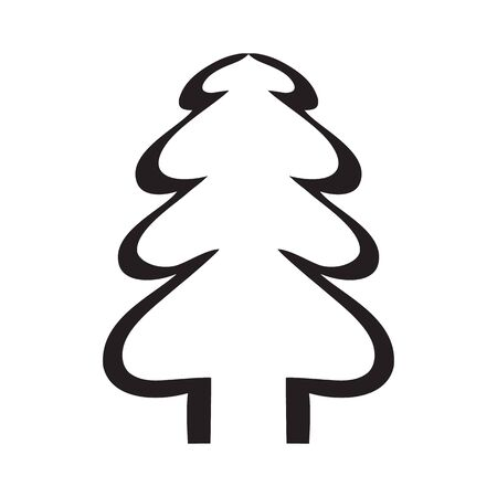Simple black and white tree