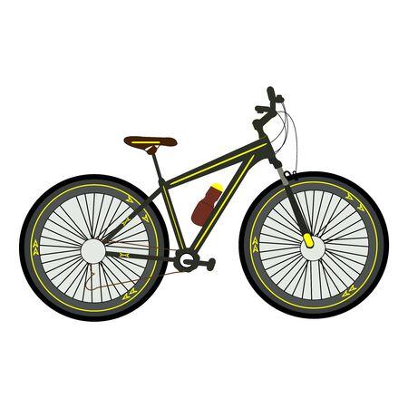 A vector illustration of a bike