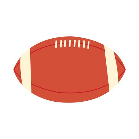 Brown and white football on white Иллюстрация
