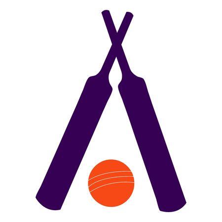 Brown bat and cricket ball