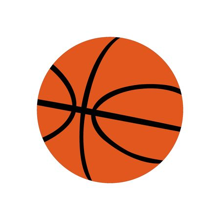 Orange basketball with iconic lines on a white backdrop