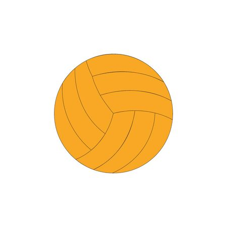 Plain orange volleyball ball on white backdrop