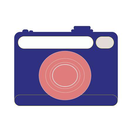 Dark Purple And Peach Colored Hand Camera Фото со стока