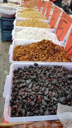 Raisins at the Farmers Market in Turkey