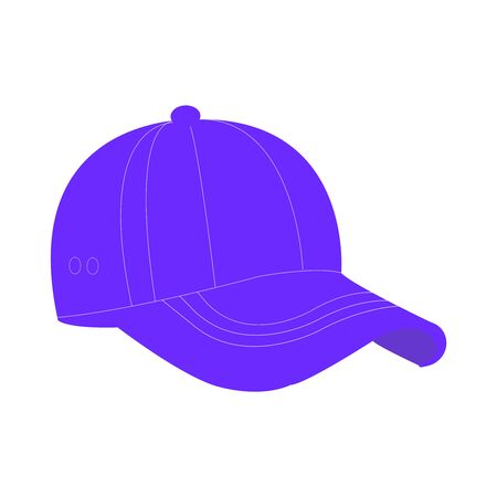 A Purple Baseball Cap On a White Backrop