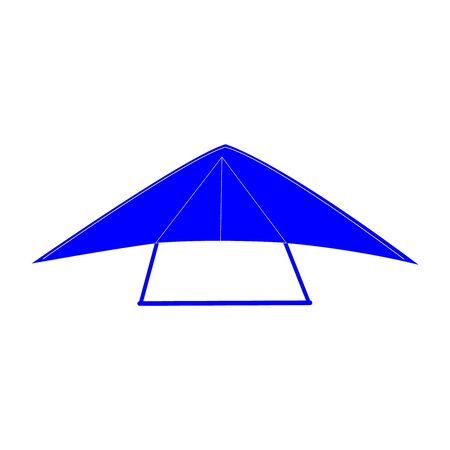 A hang glider on white