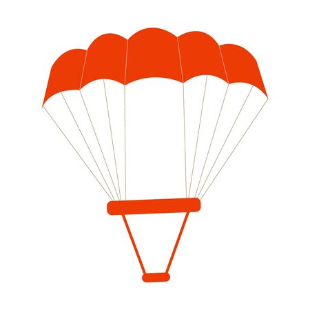 A Cutely Drawn Red Parachute On White