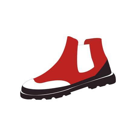 Crisply drawn red white and black soccer shoes