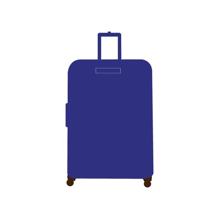 A blue suitcase on white