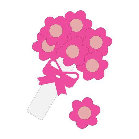 A packet if pretty beautifully drawn flowers Illusztráció