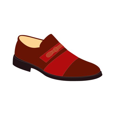 A dark red mens dress shoe on white