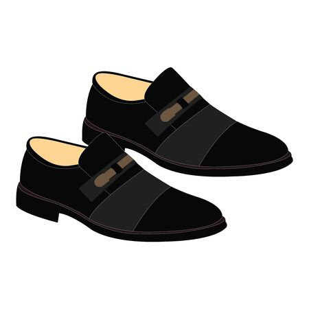 A pure black pair of mens dress shoes