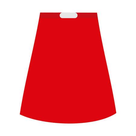 Red Skirt On White Backdrop