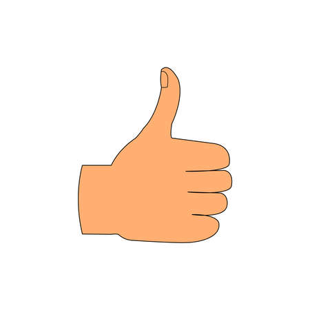 Skin Color Thumbs Up on A White Backdrop