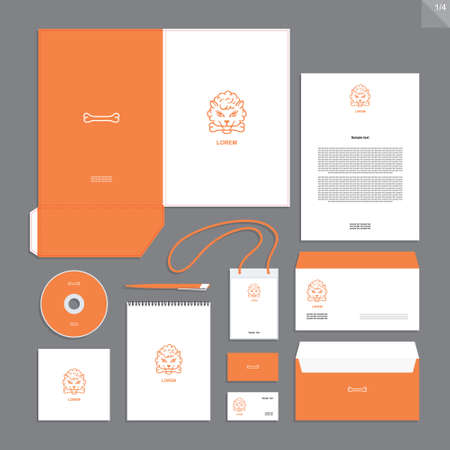 Abstract corporate identity with sign. Stationery set. Creative design.