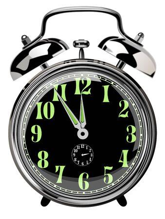 alarm clock at 23:55