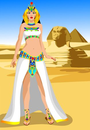 ankh cross: Egyptian queen Stock Photo