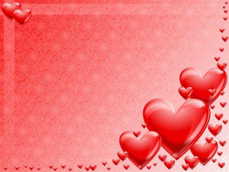 Hearts valentine background Stock Photo - 2112113