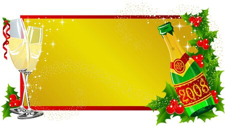 christmas label champagne Stock Photo - 2118554