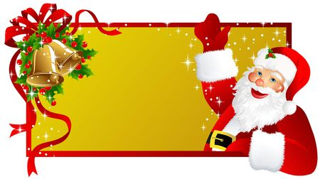 christmas label Santa Claus Stock Photo - 2118553