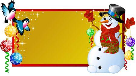 christmas label snowman Stock Photo - 2118556