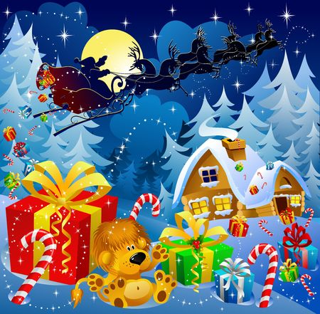 Christmas night magic Stock Photo - 2118579