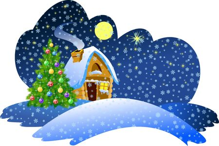 Christmas night scene Stock Photo - 2118582