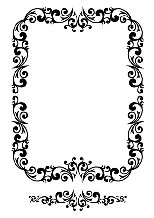 Decorative floral frame with elements