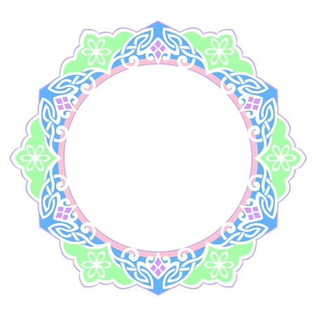 Decorative floral frame with elements Vector