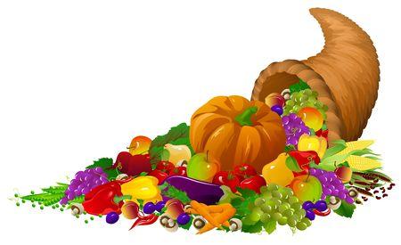 thanksgiving cornucopia: Horn of plenty Stock Photo