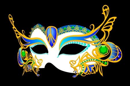 visage peint: masque de carnaval v�nitien  Illustration