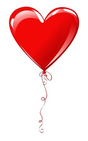 palloncino cuore: Cuore mongolfiera