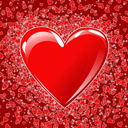 Heart background , design for valentine card