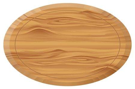 Wooden oval board Stock Photo