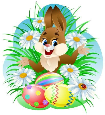 Easter bunny with eggs Stock Photo - 2531439