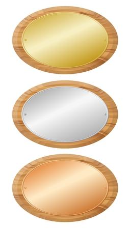 Woodenboards met metalen platen