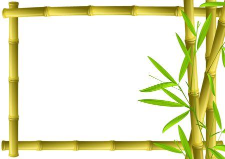 fengshui: Bamboo frame Stock Photo