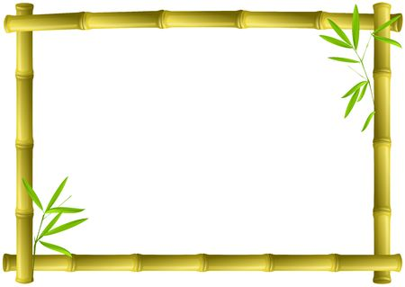 Bamboo frame Stock Photo
