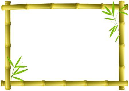 Bamboo frame Stock Photo - 3111726