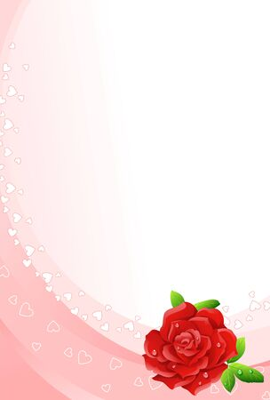 Red rose background Stock Vector - 3224918