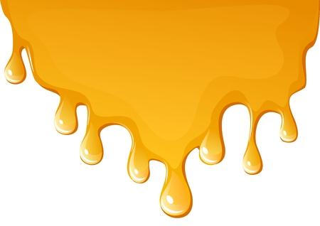 Honey flowing background Stock Vector - 3238852